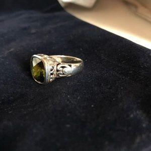 925 Sterling Silver Peridot Ring